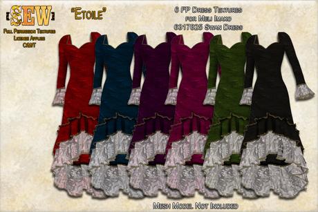 [SEW] FP Texture Meli Imako 6317825 Swan Dress  Etoile