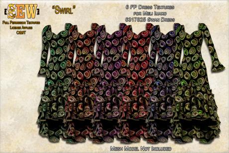 [SEW] FP Texture Meli Imako 6317825 Swan Dress  Swirl