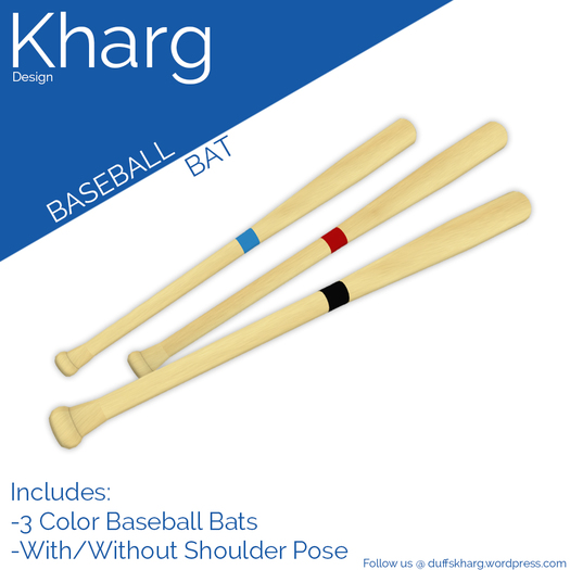 Kharg Design - Baseball Bat - Stripes
