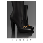 MURRAY- Leather Ankle Boots / Onyx