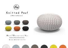 Soy. Knitted Pouf [marudesu] - black (addme)