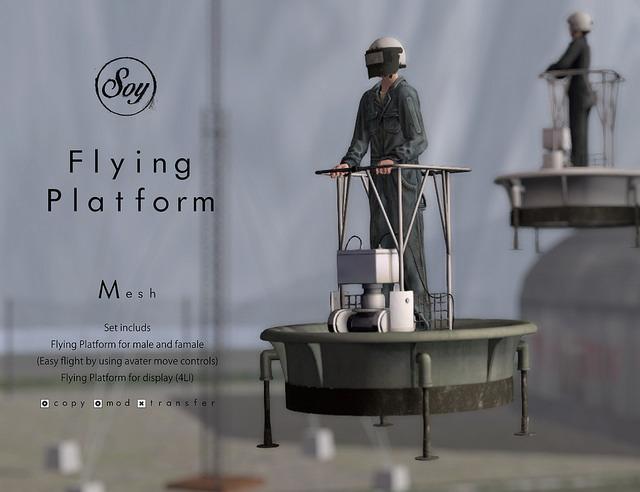 Soy. Flying Platform [glay metal] addme