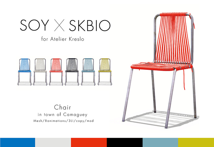 Soy+SKBIO. Chair [in town of Camaguey] water