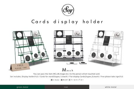 Soy. Cards display holder [green] addme