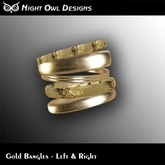 Night Owl Designs - Gold Bangles