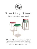 Soy. Stool set (pink and green) (add me)