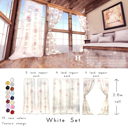 +Half-Deer+ Fairy Curtains [Cream Set]