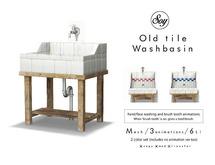 Soy. Old Tile Washbasin
