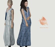 GALI by Soy. Paneled vest dress [navy blurred line] bagged