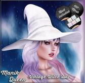 MANIK QUEEN - Vintage Witch Hat