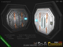 ~Isil~ <Modular Sci-Fi Corridor> Double Doors