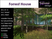 Forrest House - natural living - 64 Li incl. trees and walkable mesh ground