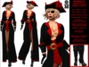 **GEORGETE PIRATE STYLE THEME COSTUME  COMPLET OUTFIT **