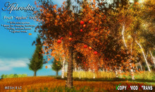 Aphrodite Apples tree with lights, wind & falling leaves