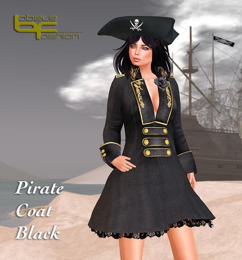 Babele Fashion :: Pirate Coat Black