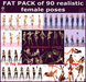 Voir   fat pack of 90 realistic female poses