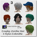 Blackburns Cosplay Zombie Hair