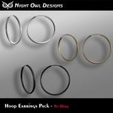 Night Owl Designs - Hoop Earrings Pack
