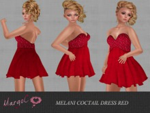 DEMO MELANI COCTAI  DRESS RED - MargoC