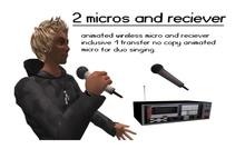 2 Animated wireless micros (wear)