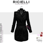 Ricielli  - Eleanor Trench Coat  / Total Black