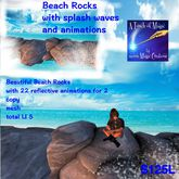 Mesh Beach rocks,waves,sounds,animation sits(crate)