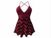 Sophie Dress Red Stripes