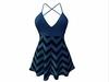 Sophie Dress Blue Stripes