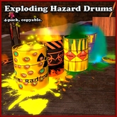 Exploding Drum HAZARD Edition 4-pack