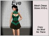 Eve Dress Green Shapes