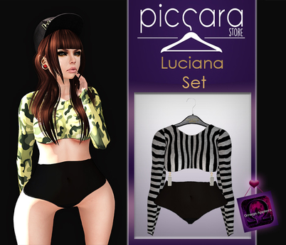 - piccara - :: Luciana  Set  :: Lined