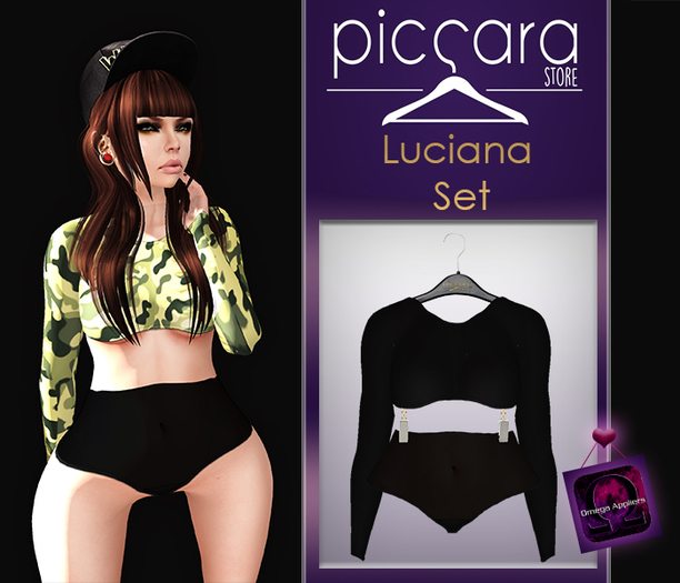 - piccara - :: Luciana  Set  :: Black