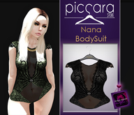 - piccara - :: Nana Bodysuit- Black