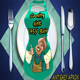 GG COOKIN AINT EASY APRON