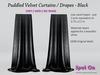 Ad puddled curtains velvet black