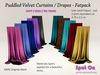 Spot On Velvet Puddled Curtains - Fatpack