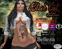 ::Kandy Tattoos::Black Cat::Unisex tattoo Group Gift: