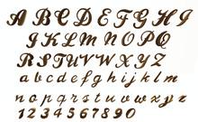 Written Alphabet FULL PERM SCULPTMAPS