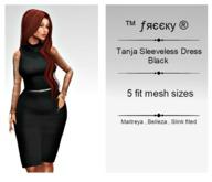 Tanja Sleeveless Dress - Black - FIT MESH - (tm) Freeky