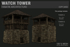 :Fanatik Architecture: WATCH TOWER – rustic medieval tower – mesh building prefab