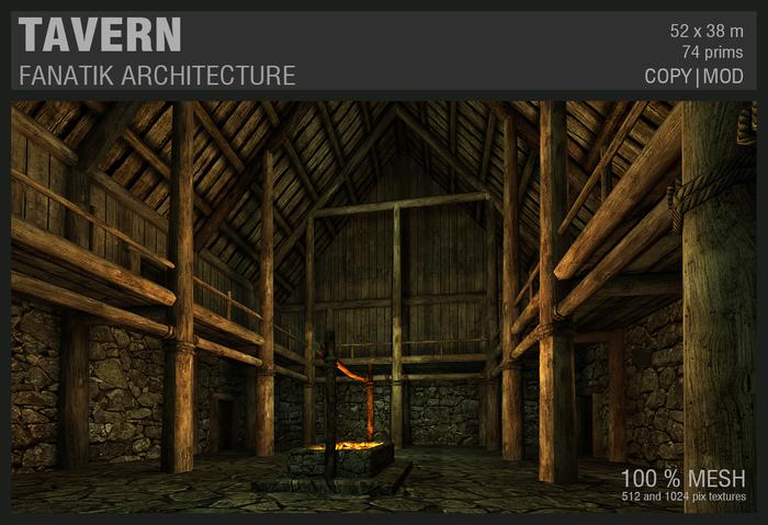 :Fanatik Architecture: TAVERN – rustic medieval building prefab