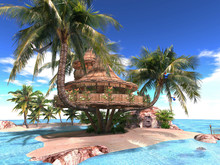 Tropical Palm Treehouse 28 Li