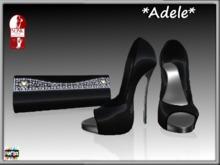 *Adele* Shoes, clutch bag and hud
