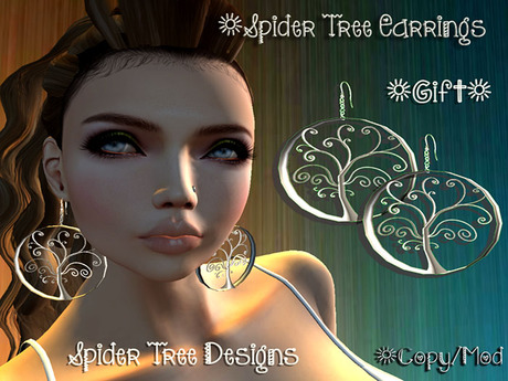 .:*STD*:. Spider Tree Earrings Gift