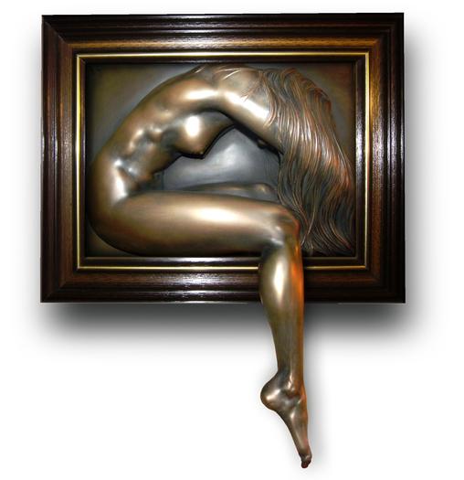 Climbing Out ... Bronze art