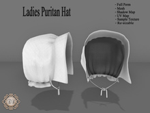 .:Ecce Bellus:.FULL PERM  *SALE* Puritan/Bonnet,Pheasant,Middle age,Medieval Hat