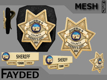 FAYDED - Sheriff Badges and Nametag