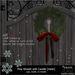-Hanaya- Mesh Pine Wreath with Candle
