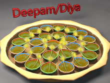 MADRAS Deepam/Diya/light/indian terracotta lamp Plate