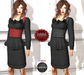 M&M-HEGE BLACK TOP AND SKIRT MESH AND FITTED